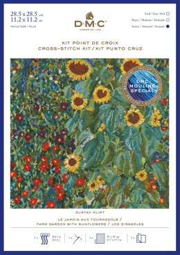 DMC Gustav Klimt- Farm Garden With Sunflowers Cross Stitch Kit