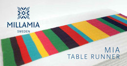 """Mia Table Runner"" - Table runner Knitting Pattern For Home in MillaMia Naturally Soft Merino"