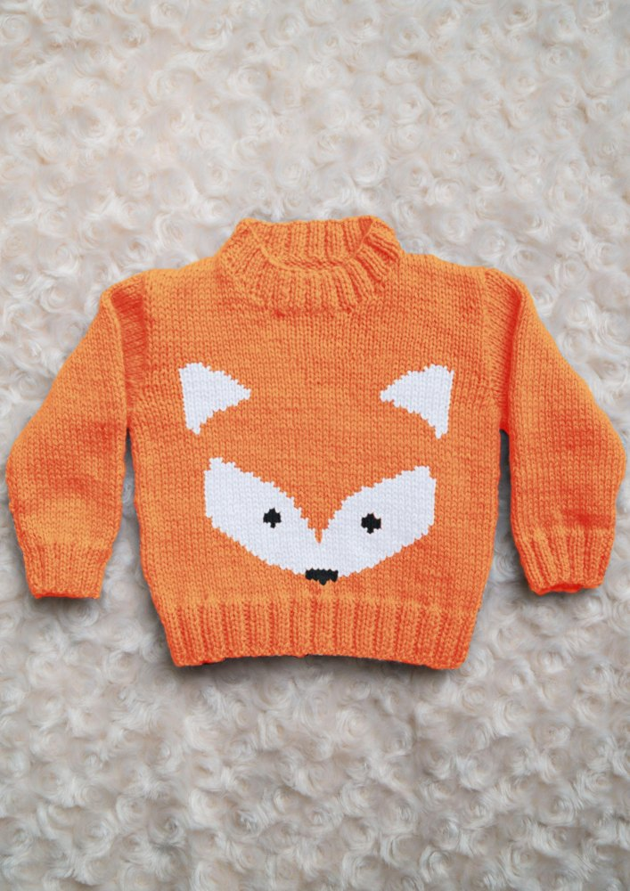 Intarsia Fox Face Chart Amp Childrens Sweater Knitting