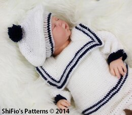 Sailor Suit Crochet Pattern #187