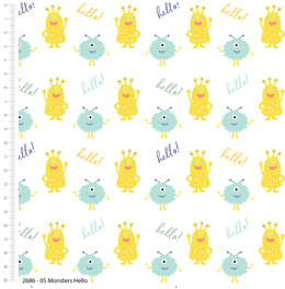 Craft Cotton Company Cutest Little Monsters - Hello