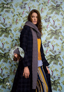 Scarf and Hat in Rico Linea Botanica - 519 - Downloadable PDF