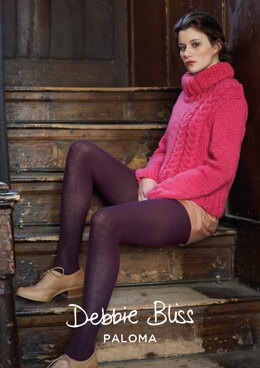 Elle Sweater in Debbie Bliss Paloma - DBS013 - Downloadable PDF