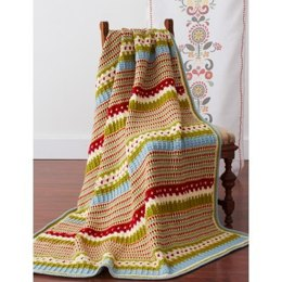 Country Fresh Blanket in Patons Decor
