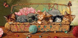 Dimensions Kitty Litter Cross Stitch Kit - 46cm x 23cm