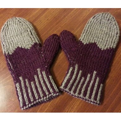 Double Knit Angle Mittens