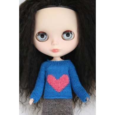 Big Heart Sweater for Blythe