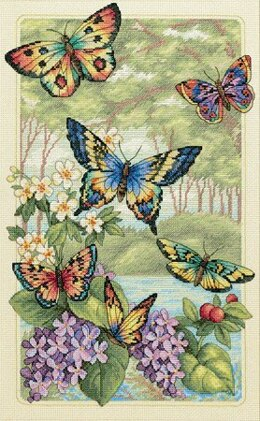 Dimensions Butterfly Forest Cross Stitch Kit - 25cm x 41cm