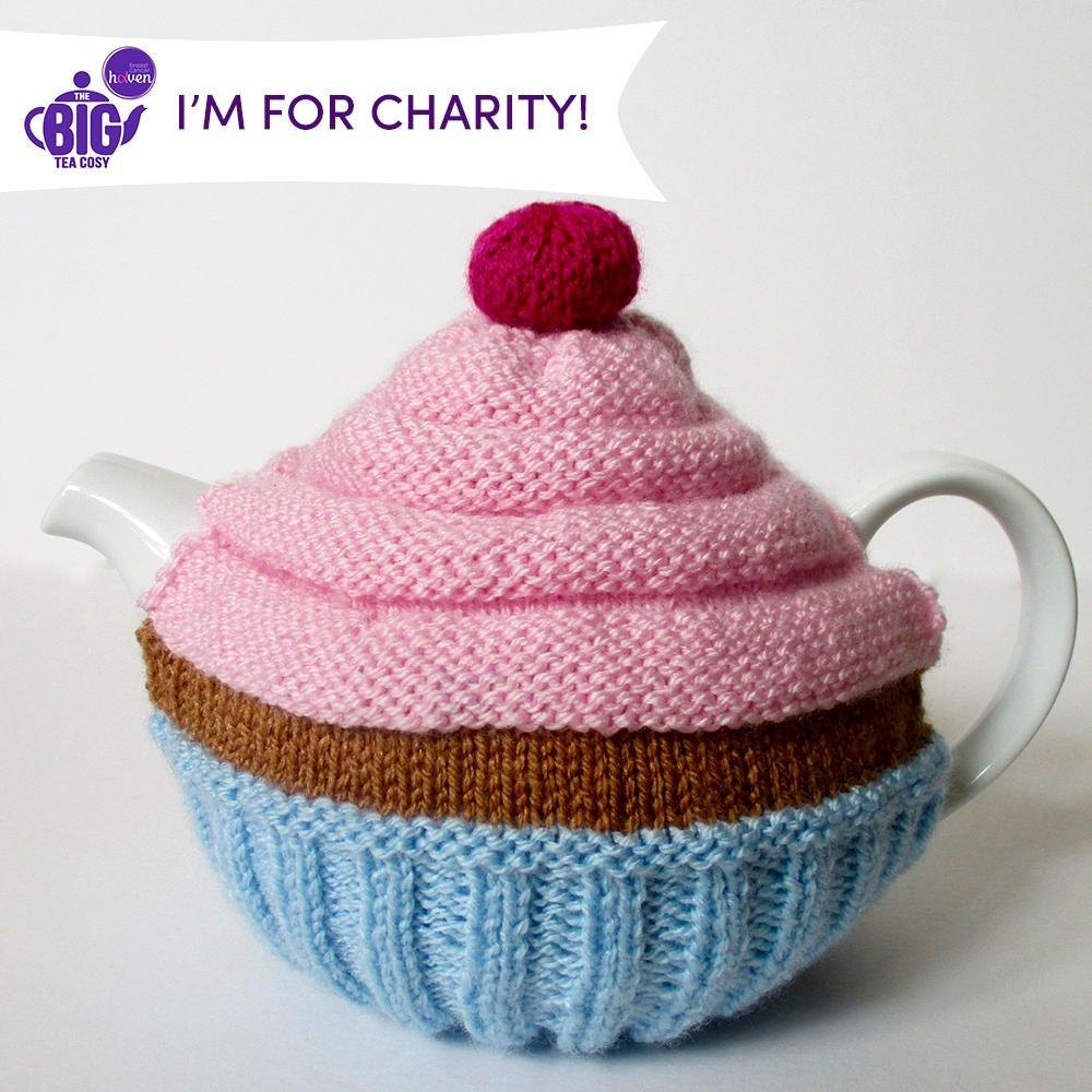 Cupcake Tea Cosy by Amanda Berry Knitting pattern by Breast Cancer Haven