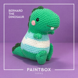 Bernard the Dinosaur - Free Toy Crochet Pattern For Halloween in Paintbox Yarns Cotton Aran by Paintbox Yarns