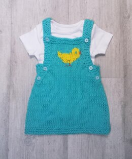 Chick Pinafore for baby 0-3ys