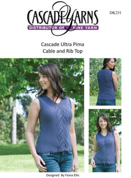 Cable and Rib Top in Cascade Ultra Pima - DK231