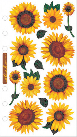 Sticko Vellum Stickers - Sunflowers