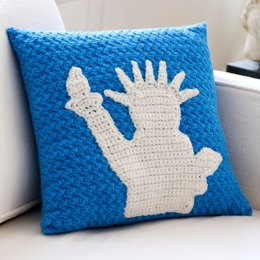 Statue of Liberty Pillow in Red Heart Super Saver Economy Solids - LW2743