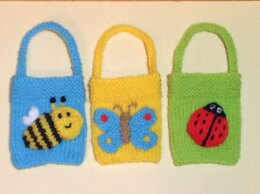 Easter Bee, Butterfly and Ladybird Gift Bags