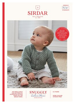 Round Neck Cardigan in Sirdar Snuggly Baby Cashmere Merino DK - 5241 - Downloadable PDF