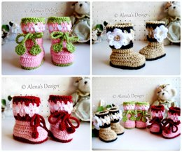 Blossom Baby Booties