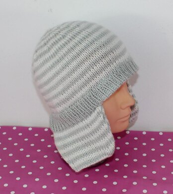 Baby Stripe Trapper Hat