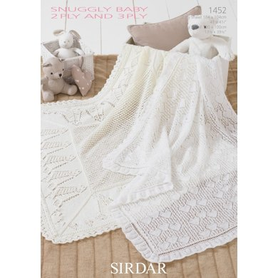 Shawls in Sirdar Snuggly 2 Ply and 3 Ply - 1452