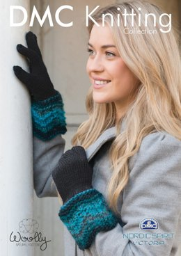 Gloves With Decorative Stuff in DMC Woolly and Nordic Spirit Victoria - 15066L/2