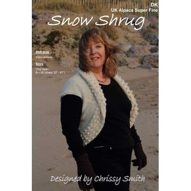 Snow Shrug in UK Alpaca Super Fine DK (Downloadable PDF)