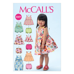 McCall's Toddlers' Top, Dresses, Rompers and Panties M6944 - Sewing Pattern