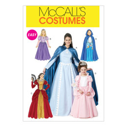 McCall's Misses'/Children's/Girls' Costumes M6420 - Sewing Pattern