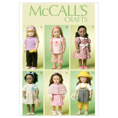 McCall's 18 (46cm) Doll Clothes M6526 - Paper Pattern Size One Size Only