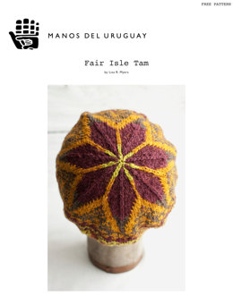 Fair Isle Tam Hat in Manos del Uruguay Silk Blend