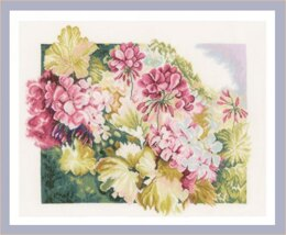 Lanarte Geraniums Cross Stitch Kit - Multi