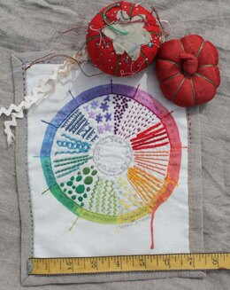 Dropcloth Samplers Color Wheel Embroidery Kit