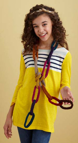 Chain Link Scarf in Lion Brand Bonbons Cotton - L20683