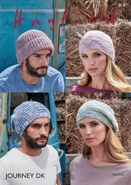 Hats in Hayfield Journey DK  - 8187 - Downloadable PDF