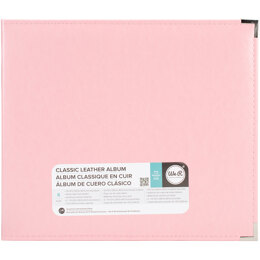 """We R Memory Keepers We R Classic Leather D-Ring Album 12""""X12"""" - Pretty Pink"""