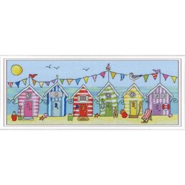 Bothy Threads Beach Hut Fun Cross Stitch Kit - 37 x 15cm