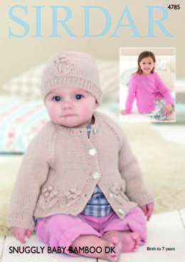 Cardigans and Hat in Sirdar Snuggly Baby Bamboo DK - 4785 - Downloadable PDF