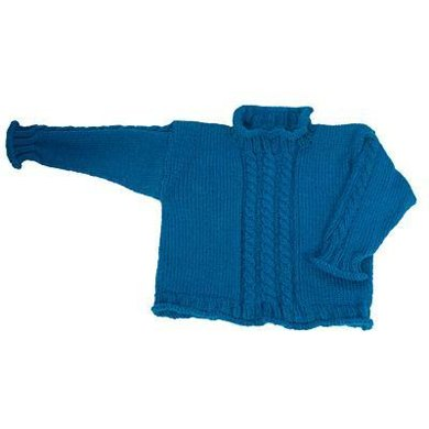 Easy Child's Cabled Pullover - Straight Needle Version