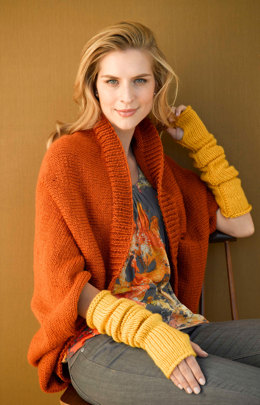Harvest Shrug in Lion Brand Vanna's Choice - 90688