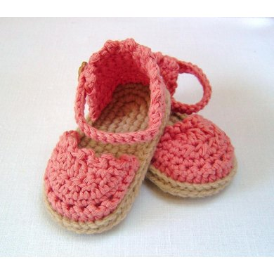 Baby Espadrille Sandals Crochet pattern by Caroline Brooke ...