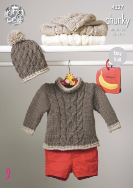 Sweaters, Jacket & Hats in King Cole Chunky - 4227 - Downloadable PDF
