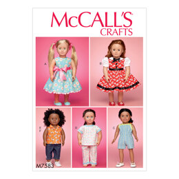 McCall's 18in (46cm) Play and Dress Up Doll Clothes  M7583 - Sewing Pattern