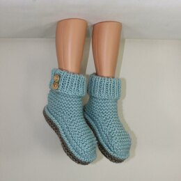 2 Button Super Chunky Slipper Boots