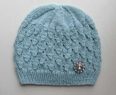 Blue Lacy Seamless Hat for a Lady