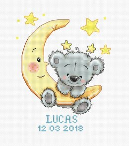 Luca-S Lucas Baby Sampler Cross Stitch Kit