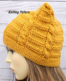 17121ff3fdf Knitting pattern ladies hat with cable UK   USA terms  464