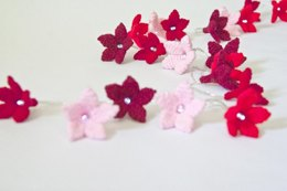 Amigurumi Flower Fairy Light Garland