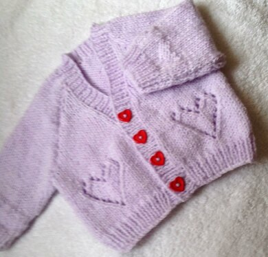 Hearts and Sparkle Baby cardigan