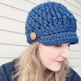 Cozy Textured Newsboy Hat