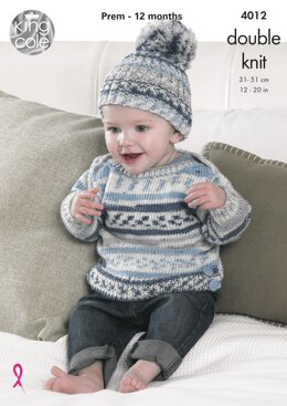 Baby Set in King Cole DK - 4012