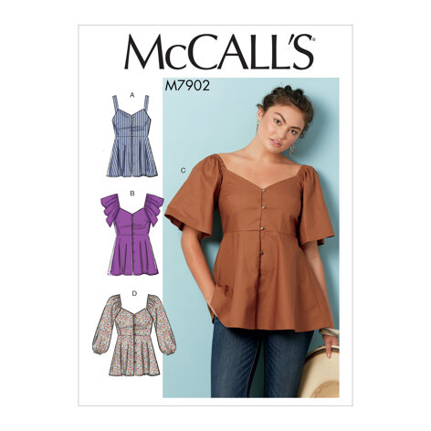 McCall's Misses' Tops M7902 - Sewing Pattern